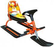 Снегокат Барс 116 Comfort Animals Лиса, оранжевый