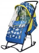 Cанки-коляска Nika Умка 3, медвежата на синем