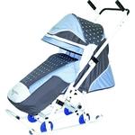 Санки коляска Скользяшки 0938-P14 Мозаика серый-голубой-белый