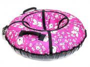 Тюбинг RT Собачки на розовом 105cm + автокамера