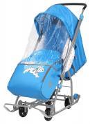 Cанки-коляска Nika Baby 1 Disney 101 Далматинец, голубые