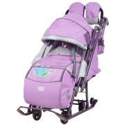 Санки-коляска Ника детям 7-4 (Лиловый) НД7-4