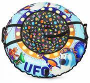 Тюбинг Small Rider UFO Синий медвежонок, 95 см