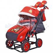 Санки-коляска Galaxy Snow City-2 Мишка с бабочкой