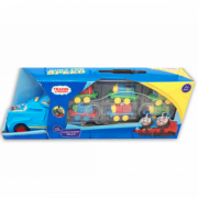 Машина с маленькими паровозиками (Синяя)