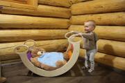Детская качалка «Радуга» (Окрашенная)