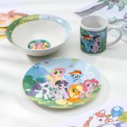 Набор посуды Hasbro My Little Pony, 3 предмета: кружка 240 мл, миска 18 см, тарелка 19 см