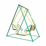 Качели Лидер 2-02 зелёно/жёлтый