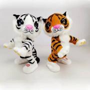 Мягкая поющая и танцующая игрушка тигр, символ года 2022, 32см (6песен) 280-894