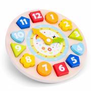 Часы-сортер детская развивающая игрушка деревянная, для детей от 2 лет New Classic Toys 18252