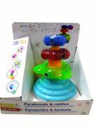 Развивающая игрушка Lalaboom Пирамида с аксессуарами 11 предметов BL630