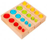 """Развивающий набор цилиндров """"Больше-меньше"""", цветные MSN17065 Sima-Land"""