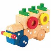 Конструктор Genii Creation Магнитный деревянный Транспорт малый 54 элемента