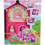 Smoby Кукла Еви в двухэтажном доме, 12 см., 38 см., 5731508