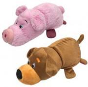 Мягкая игрушка 1Toy Вывернушка 2 в 1 - Собака-Свинья, 35 см (Т13796-18)