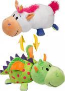 1TOY Мягкая игрушка Вывернушка 2в1 Единорог-Дракон 40 см