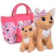 Плюшевые собачки Simba ''Chi-Chi love'' ''Счастливая семья'' 2 собачки в сумочке 20см 14см 5893213129