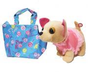 Плюшевая собачка Chi Chi Love в голубой сумке (лает)