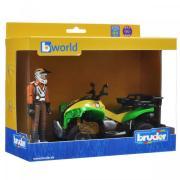 Квадроцикл BRUDER с гонщиком