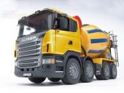 """Бетономешалка Scania желто-синяя, (подходит модуль со звуком и светом """"Н"""")"""