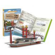 Картонный 3D конструктор + книга. Теплоход