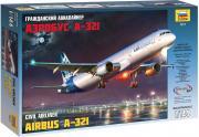 Звезда Сборная модель Авиалайнер Аэробус А-321