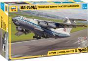 Звезда Сборная модель Российский военно-транспортный самолет Ил-76МД