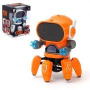 Робот «Осьминожик», световые эффекты, работает от батареек, цвета МИКС