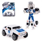 Робот-трансформер «Полицейский джип», с металлическими элементами