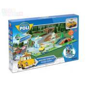Набор Robocar Poli «Город» почта с мостом - металлическая машинка Кэп в комплекте