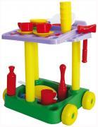 Игровой набор Совтехстром Сервировочный столик с набором посуды на 44 предмета У533