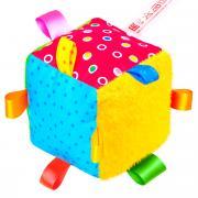 Подвесная игрушка Мякиши Кубик с петельками