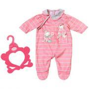 Zapf Creation Baby Annabell Комбинезончик 700-846 (розовый в серую полоску)
