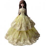 Платья Платье Для Barbiedoll органза / Чистый хлопок / Полиэфирный жаккард Платье Для Девичий игрушки куклы