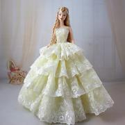 Свадьба Платья Для Barbiedoll Полиэстер Платье Для Девичий игрушки куклы