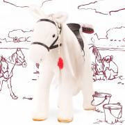 Gotz Лошадь белая с расчёской для кукол размером до 50 см 3403087