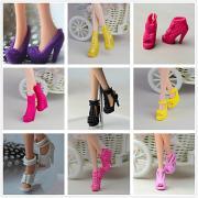 Прицесса / Симпатичные Стиль Туфли 9 pcs Для Barbiedoll Черный ПВХ Туфли Для Девичий игрушки куклы