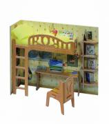 "Коллекционный набор мебели ""Уголок школьника"". Объемный пазл. Материал: картон."