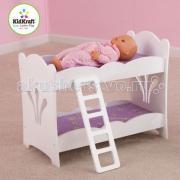 Кроватка для куклы KidKraft двухэтажная с бельем