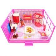 ABtoys Счастливые друзья. Модульная комната, в наборе с мебелью и фигурками животных, 11 пр. PT-00910