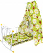 Кроватка-люлька Наша Игрушка Ромашки 40699-4 с балдахином 612781