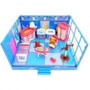 ABtoys Счастливые друзья. Модульная комната, в наборе с мебелью и фигурками животных, 13 пр. PT-00908