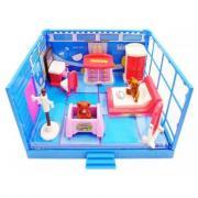 ABtoys Счастливые друзья. Модульная комната, в наборе с мебелью и фигурками животных, 11 пр. PT-00911