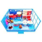 ABtoys Счастливые друзья. Модульная комната, в наборе с мебелью и фигурками животных, 12 пр. PT-00909