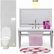 Кукольная мебель Lundby Смоланд.Ванная с 1 раковиной 60208700
