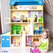 Paremo Кукольный домик для Барби – Лира, 28 предметов мебели, 2 лестницы, гараж