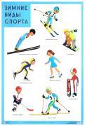 Плакат Зимние Виды Спорта