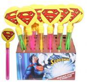 Игрушка, Мыльные пузыри, 1TOY/Вантой, Superman колба с трещоткой, 60мл, д/б Т59667