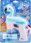 Игрушка 1Toy Пистолет для пускания мыльных пузырей Фламинго 56мл в ассортименте