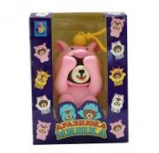 Игрушка Мишка-дразнюка, показывающий язык и опускающий лапы в костюме поросенка 1Toy (Т14729)